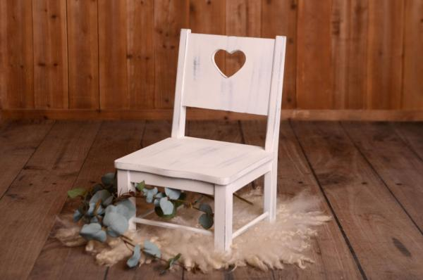 Chair rustique blanc
