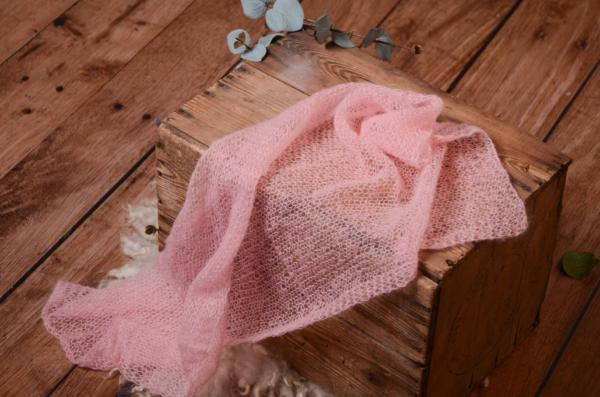 Wrap en mohair rose